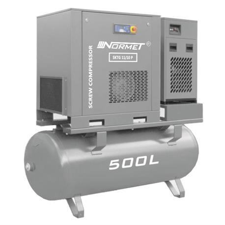 Kompresor śrubowy WALTER SKTG 11KW 500L COMBO-713